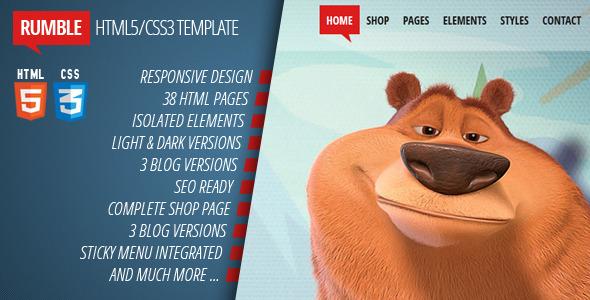 Rumble - Responsive Multi-purpose HTML5/CSS3 theme Template