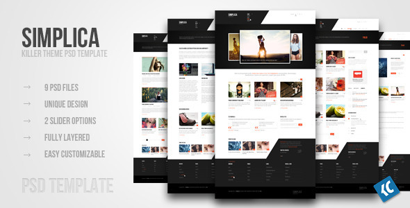 SIMPLICA | Another killer theme PSD template Creative PSDTemplates