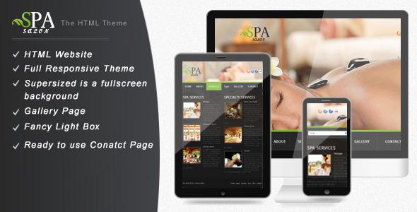 SPA - SALON : Simple & Creative Website Template Retail