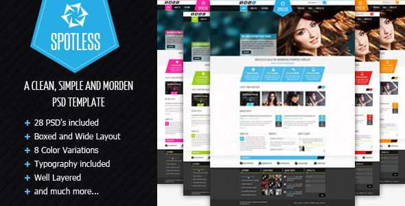 SPOTLESS - Clean & Simple Premium PSD Template Creative