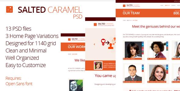 Salted Caramel - Minimal PSD Theme Corporate