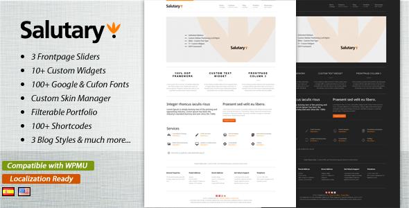 Salutary - Business & Portfolio WordPress Theme Creative