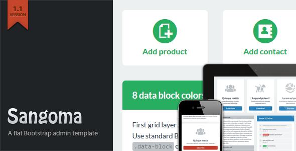Sangoma Bootstrap Admin Template AdminTemplates