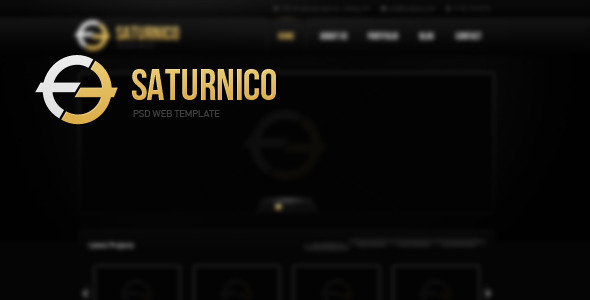 Saturnico PSD Web Theme Technology PSDTemplates