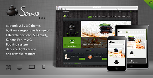 Sauna - Responsive Jooma Template Joomla Retail