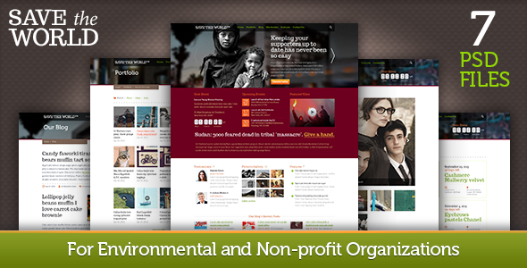 SaveTheWorld: for Charity Organizations PSD Nonprofit