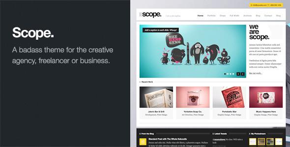 Scope: Agency / Business WordPress Theme Creative