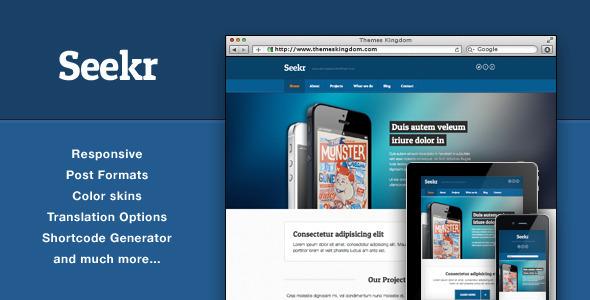 Seekr - Responsive WordPress Theme Creative