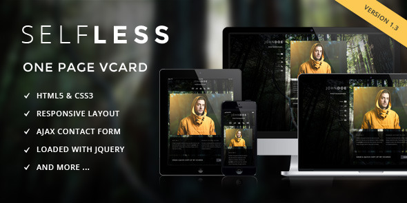 Selfless - One Page Personal VCard HTML5 Template Specialty Page