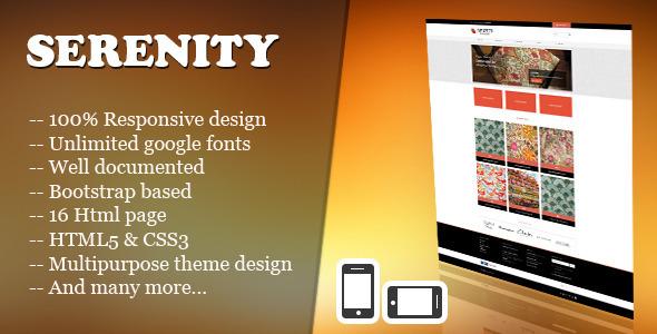 Serenity - Minimal Responsive eCommerce Template Retail