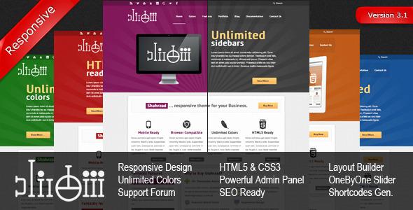 Shahrzad Responsive Corporate WordPress Theme Corporate