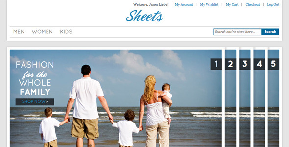 Sheets Fashion Magento Commerce Theme