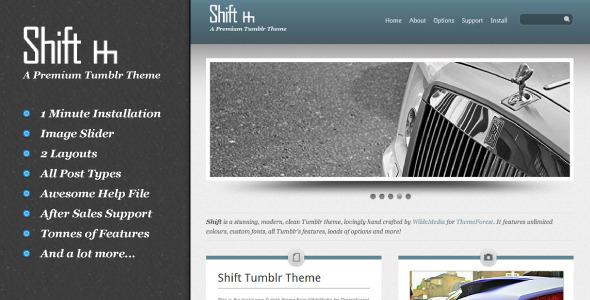 Shift Tumblr Theme