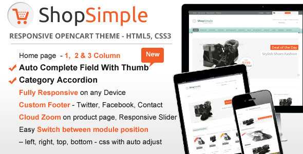 ShopSimple – Responsive OpenCart theme Shopping