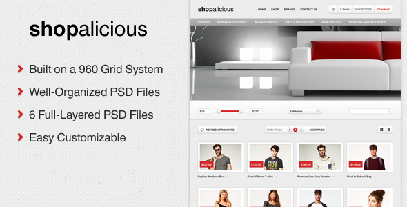 Shopalicious - Shopping PSD Template Retail