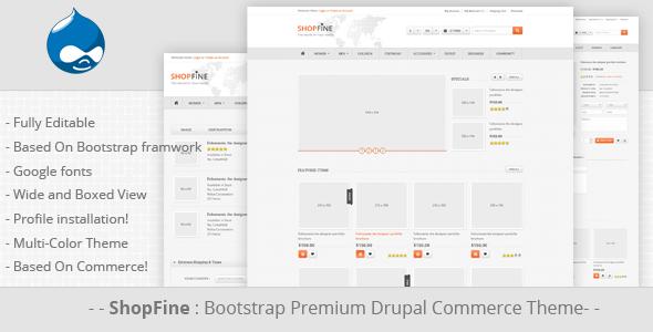 Shopfine - Responsive Drupal Commerce Theme Retail