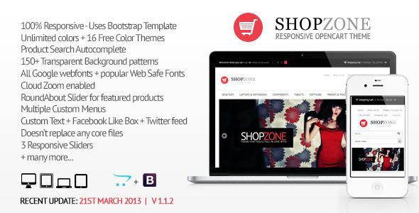 Shopzone - Responsive Opencart Theme