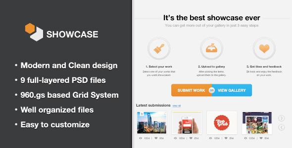 Showcase - Creative PSD Template Creative