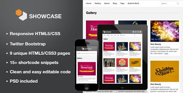 Showcase - Responsive HTML5 Template Creative