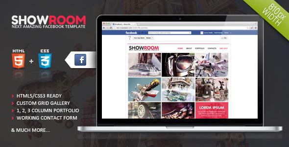 Showroom Timeline Facebook Template Creative