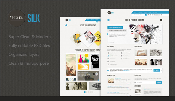 Silk - Unique Template PSD Creative