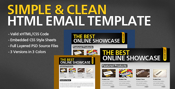Simple & Clean HTML Email Template EmailTemplates Email Template