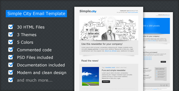 Simple City - Email Template EmailTemplates Email Template