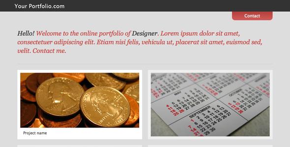 Simple modern portfolio theme