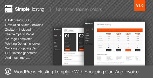 Simple Hosting - Modern WordPress Theme Technology