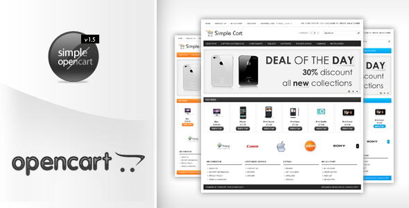 Simplecart Opencart Template in 12 Styles
