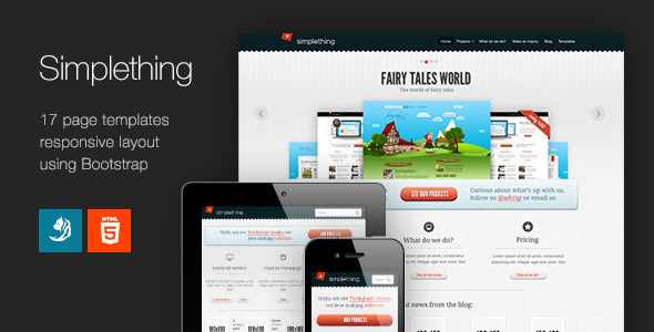Simplething - a clean HTML template Creative