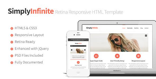 SimplyInfinite - Responsive, Retina HTML Template Creative