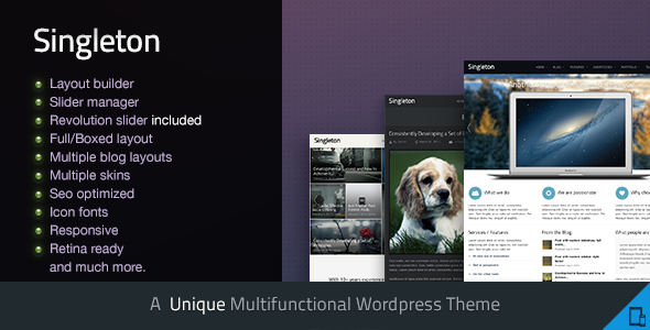 Singleton - A Responsive Multipurpose WP Theme WordPress
