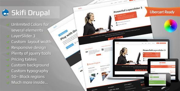 Skifi - Bootstrap Drupal theme Corporate
