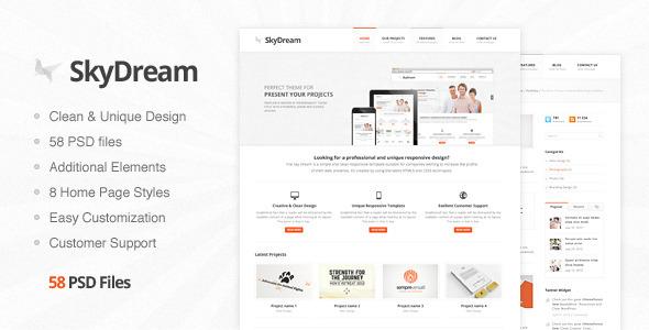 SkyDream - Premium PSD Template Corporate