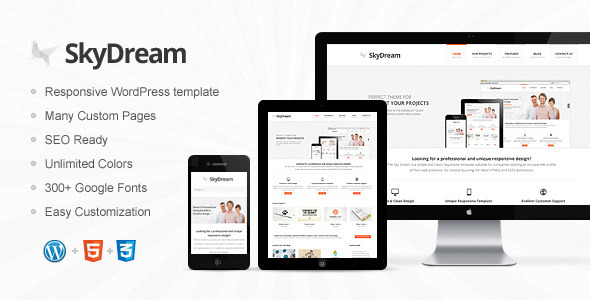 SkyDream Responsive Multi-Purpose WordPress Theme Corporate