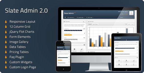 Slate Admin 2.0 - Responsive Admin Template AdminTemplates