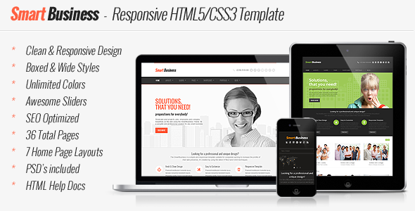Smart Business - Responsive HTML5 Template Corporate
