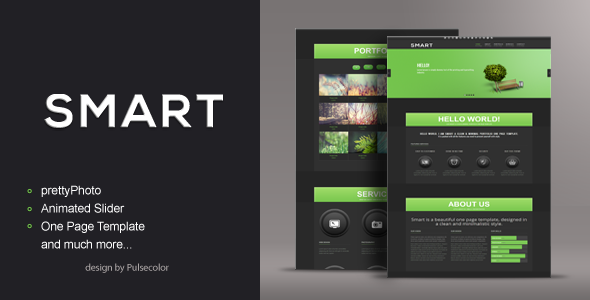 Smart  HTML/CSS One Page Template Creative