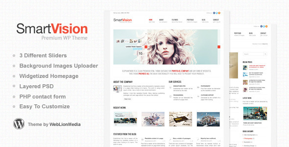 SmartVision - Premium Corporate&Portfolio WP Theme WordPress