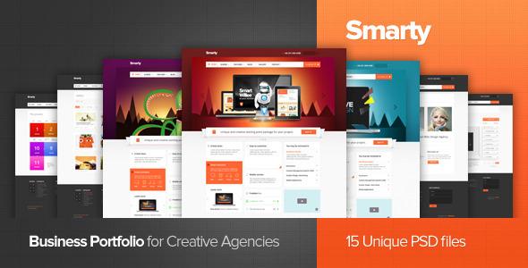 Smarty - Business Portfolio for Creative Agencies PSD