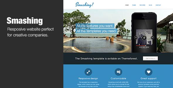 Smashing - Responsive HTML5 Template Creative
