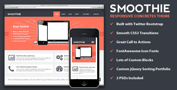Smoothie - Responsive Concrete5 Theme Technology