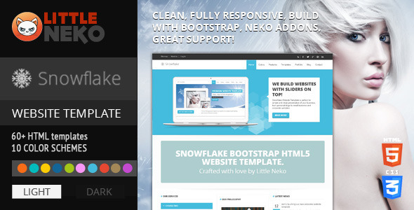 Snowflake | Responsive Bootstrap Website Template Corporate
