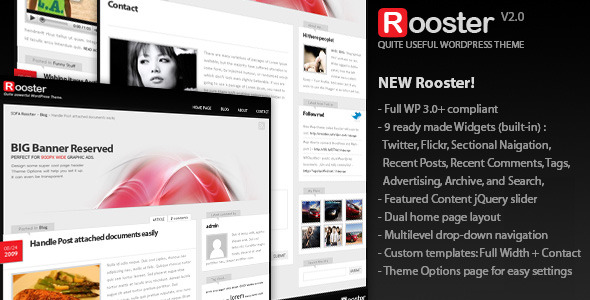 Sofa Rooster, Blog/Magazine WordPress theme