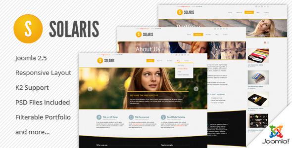 Solaris Responsive Joomla Template