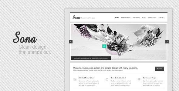 Sona Clean WordPress Theme Corporate