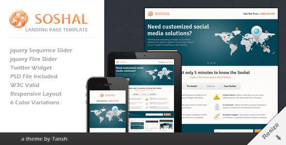 Soshal Responsive Business Landing Page LandingPages Landing Page