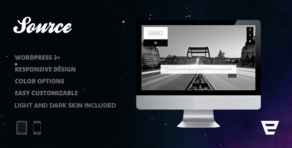 Source - Responsive Photography WordPress Theme Creative
