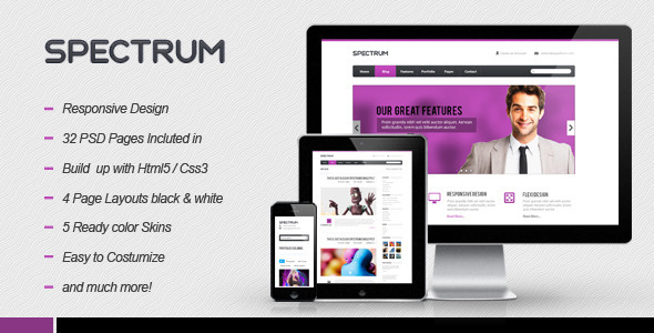 Spectrum Responsive HTML5 Template Creative